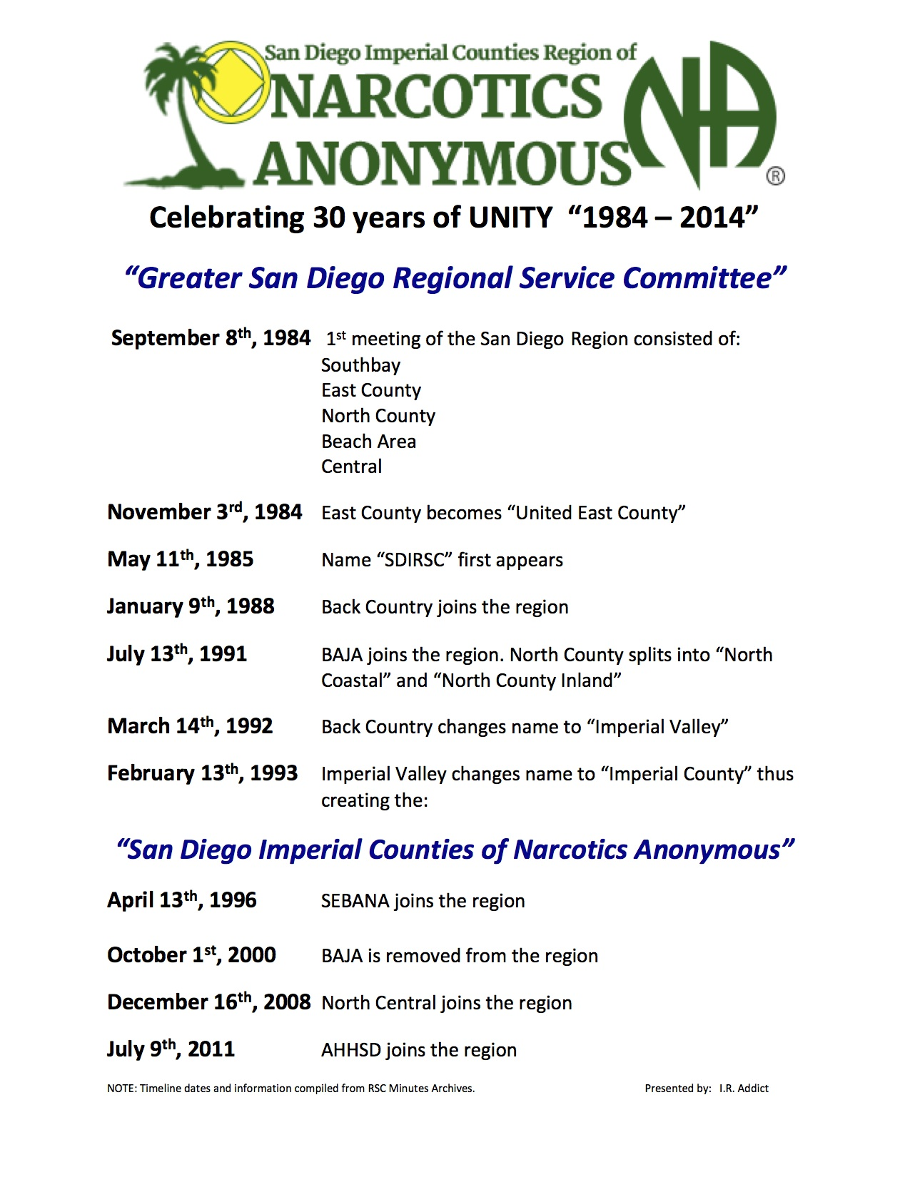narcotics anonymous san diego meetings Narcotics anonymous san diego ca narcotics anonymous or na is a 12 step program that is similar to the other non-profit organization: alcoholics anonymous this program is designed to help.