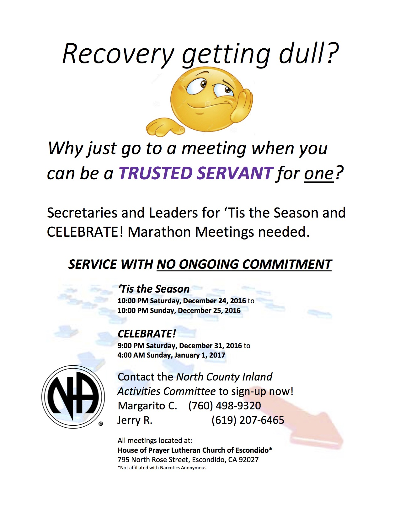 NA - Narcotics Anonymous Meetings in San Diego, CA